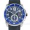 ブルーのベゼルが美しい~カリブルドゥカルティエ~ 時計 販売 買取